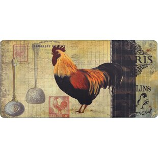 Cook N Comfort Paris Rooster Kitchen Mat