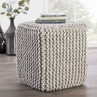Compare prices Caledon Pouf By Gracie Oaks