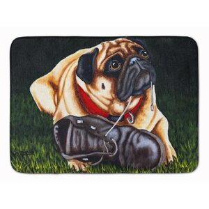 Cluster Buster the Pug Memory Foam Bath Rug