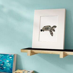 Shroyer Watercolor Turtle Framed Paper Print