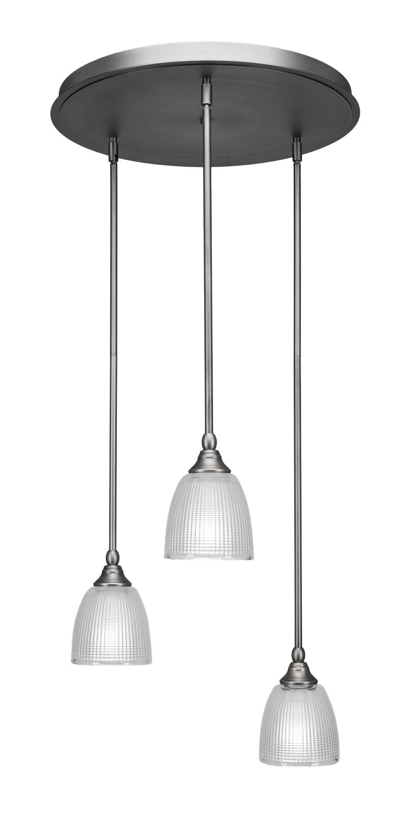 Ebern Designs Shamar 3 Light Cluster Bell Pendant Wayfair