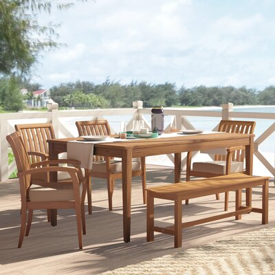 Elaina Solid Wood Dining Table by Beachcrest Home Best #1
