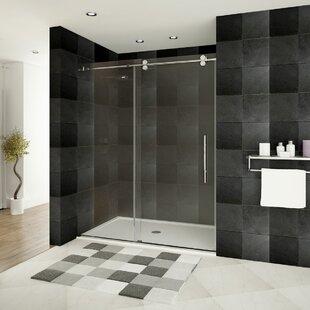 Great choice Ultra-D 48 x 79 Single Sliding Frameless Shower Door ByLessCare
