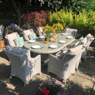 Hermina 8 Seater Dining Set With Cushions Image