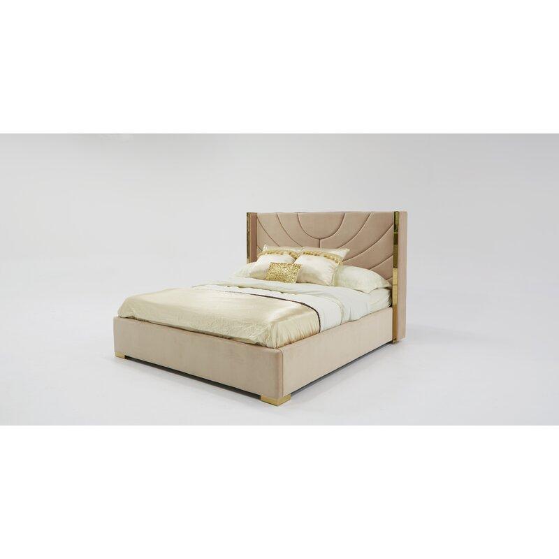 Sam Modern King Upholstered Platform Bed Allmodern
