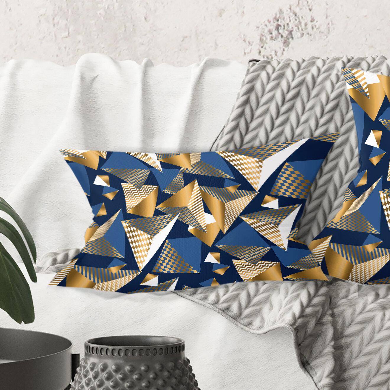 East Urban Home Cubes Lumbar Pillow Wayfair