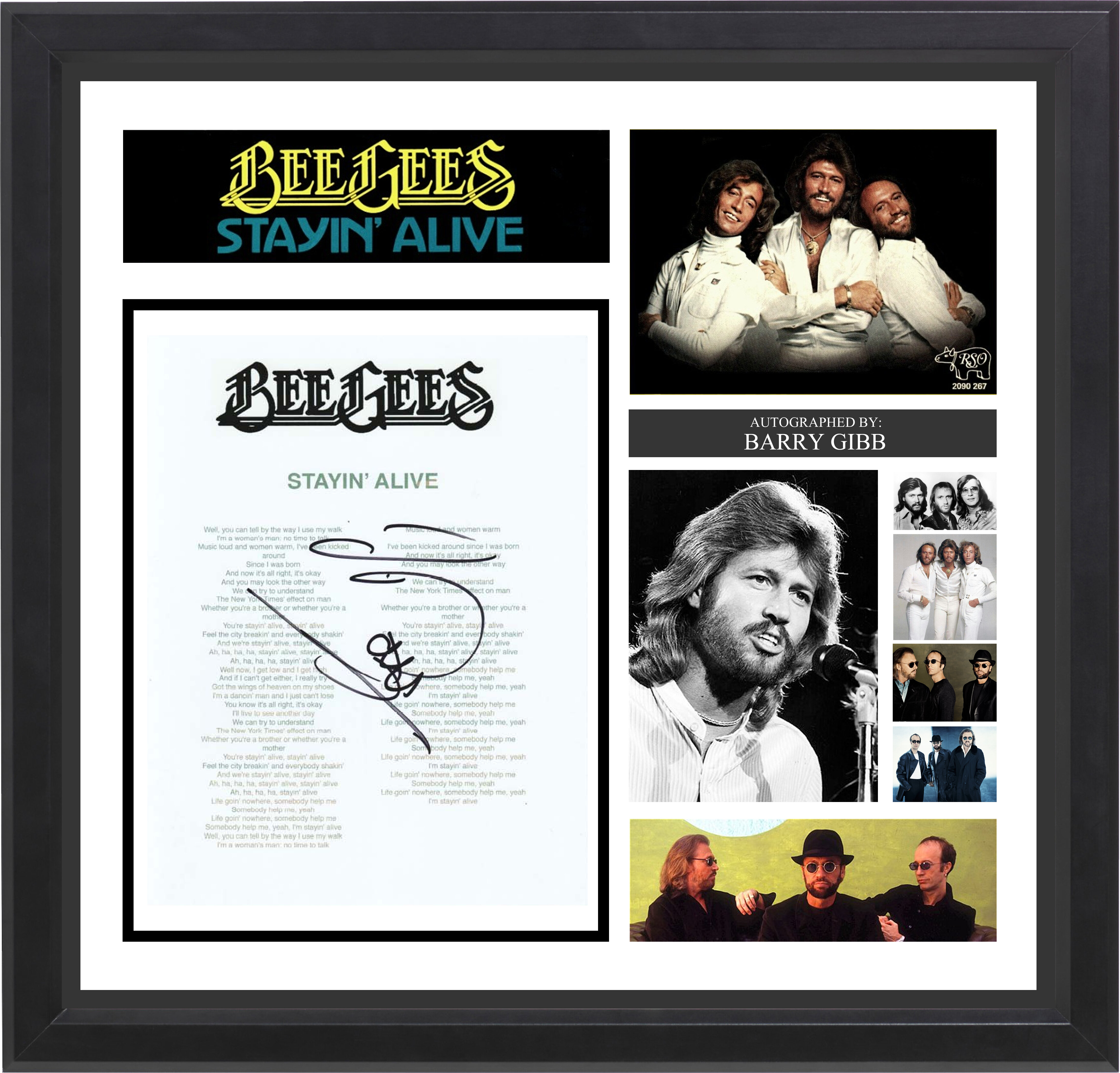 Luxewest beegees stayin alive autographed lyric collage luxewest beegees stayin alive autographed lyric collage reviews wayfair jeuxipadfo Choice Image