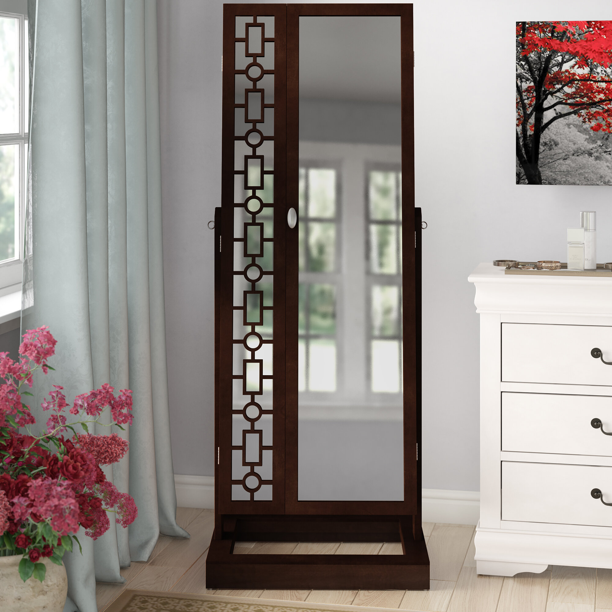 Darby Home Co Critchfield Cheval Jewelry Armoire With Mirror Reviews Wayfair