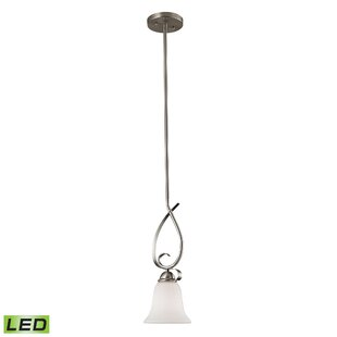 Fleur De Lis Living Wall 1-Light LED Bell Pendant