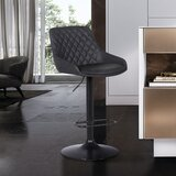 Priya Swivel Adjustable Height Bar Stool by Orren Ellis
