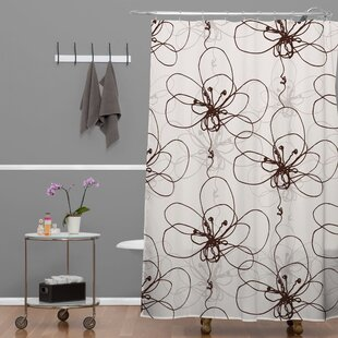 Rachael Taylor Tonal Floral Single Shower Curtain