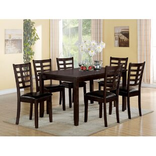 Red Barrel Studio Bilotta Wooden 7 Piece Dining Set