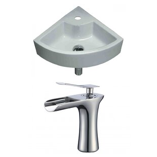 Online Reviews Specialty Ceramic Specialty Vessel Bathroom Sink with Faucet and Overflow By American Imaginations