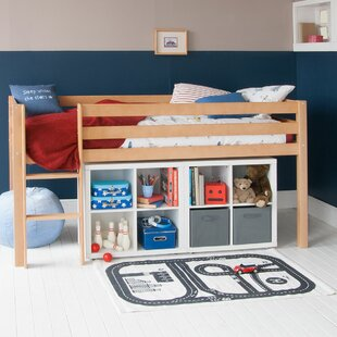 Karley European Single Mid Sleeper Bed With Two Storage Bookcases By Isabelle & Max