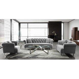 Online Reviews Fields Contemporary Configurable Living Room Set by Rosdorf Park Reviews (2019) & Buyer's Guide