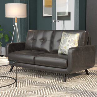 Basilica Leather Loveseat