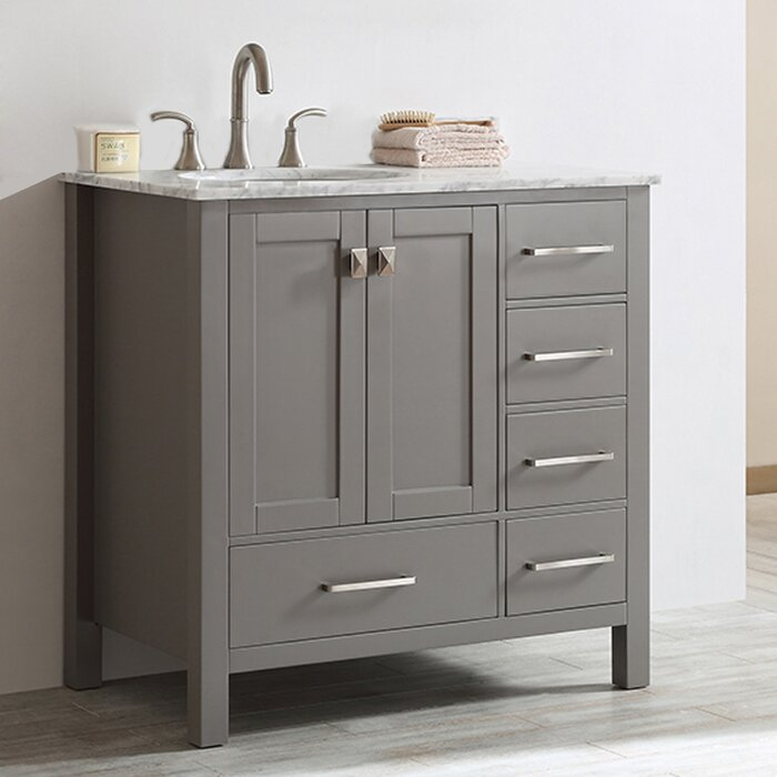 Wayfair Bathroom Vanity >> Newtown 36 Single Bathroom Vanity Set