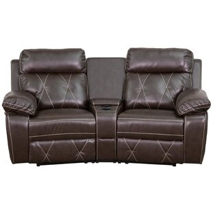 Traditional Faux Leather Home Theater Recliner Red Barrel Studio