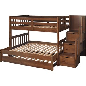 Wyatt Twin over Full Bunk Bed with Trundle by Just Cabinets Furniture and More