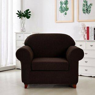 Jacquard Box Cushion Armchair Slipcover By Red Barrel Studio