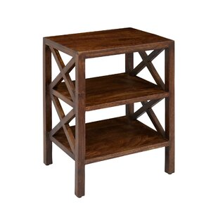 Mcclanahan Wooden X Pattern End Table by Breakwater Bay