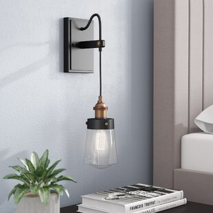 Poplar Alayna 1-Light Armed Sconce By Trent Austin Design Wall Lights