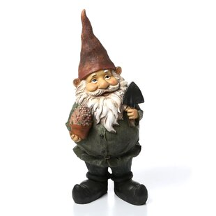 Shovel Gnome With Flower Garden Statue By Design Toscano
