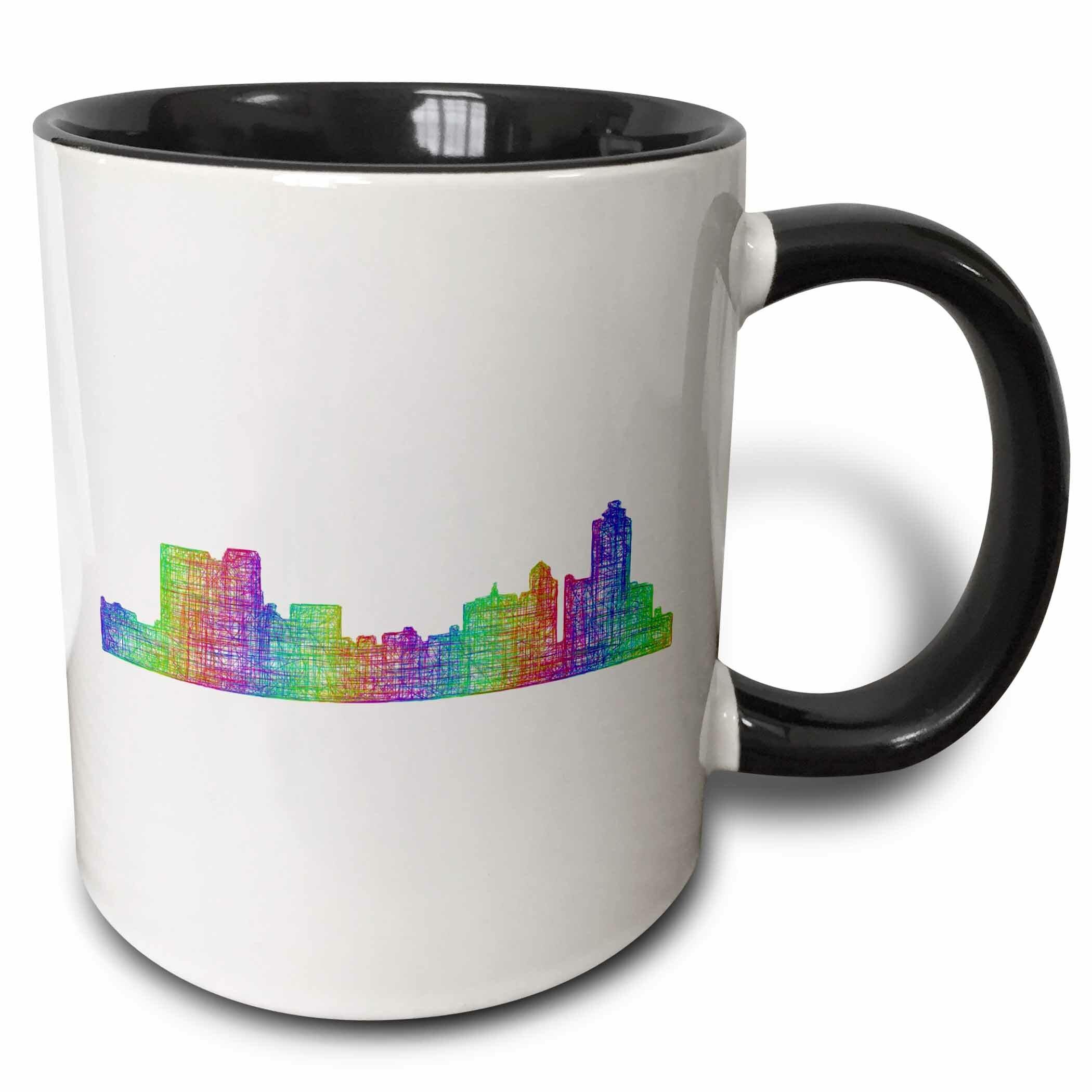 Ebern Designs Infinity Memphis City Skyline Line Art Coffee Mug Wayfair