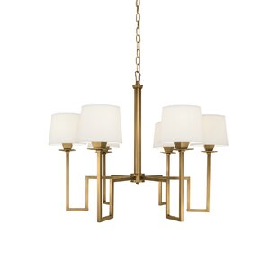 Everly Quinn Borquez 6-Light Shaded Chandelier