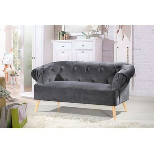 Aahil Chesterfield Loveseat by Mercer41