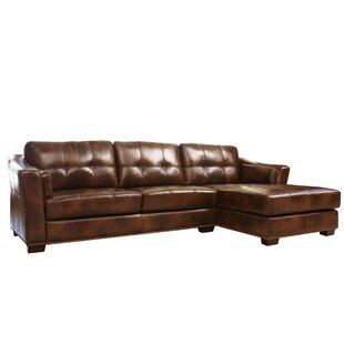 Abbyson Living Davis Right Hand Facing Leather Sectional