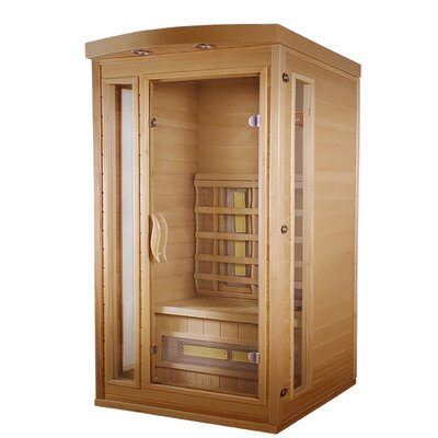 Classic 1 Person FAR Infrared Sauna with Soft Touch Control TheraSauna