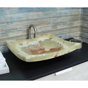 Compare prices Textured Stone Rectangular Vessel Bathroom Sink ByOnyx Marble Designs