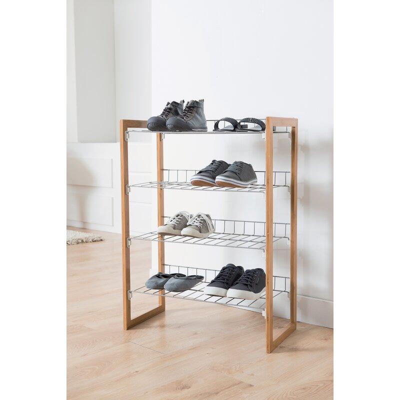 Rebrilliant Preppy 12 Pair Shoe Rack Reviews Wayfair Co Uk