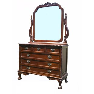 England 6 Drawer Dresser with Mirror by D-Art Collection