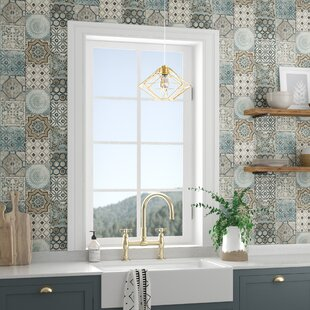 """Cormier Moroccan Tile 18' L x 20.5"""" W Peel and Stick Wallpaper Roll"""