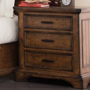 Loon Peak Pinole 3 Drawer Nightstand