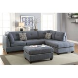 Cassidie 70 Right Hand Facing Sofa & Chaise with Ottoman by Latitude Run®