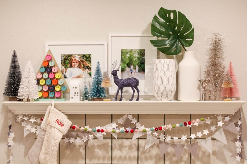 Lisa Anderson Adie and Aden Christmas fireplace mantel