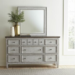Heartland 12 Drawer Double Dresser with Mirror