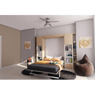 Brayden Studio Bellezza Queen Upholstered Murphy Bed