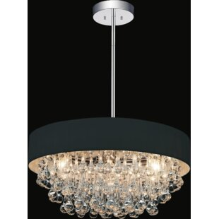 6-Light Drum Chandelier by CWI Lighting