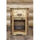 Tustin Solid Wood End Table with Storage by Loon Peak®