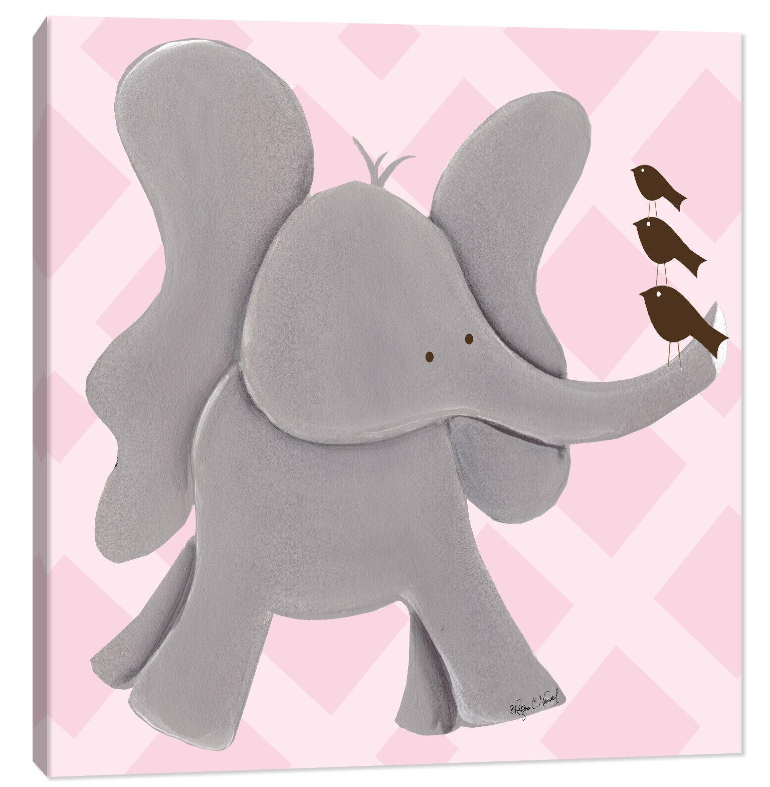 Doodlefish Jungle Ellie Elephant Canvas Art Wayfair