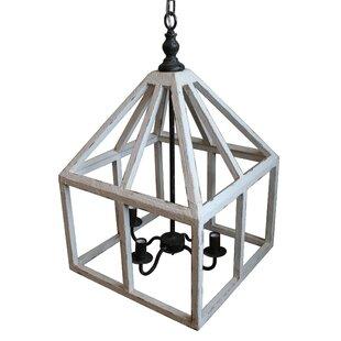 Best Reviews Gramercy 4-Light Geometric Chandelier By White x White