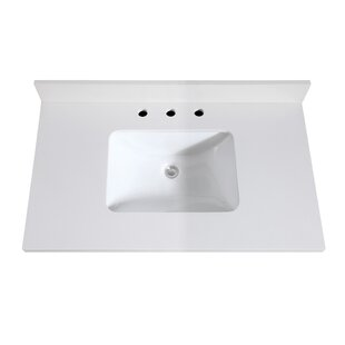 Quartz 37 Single Bathroom Vanity Top By Avanity