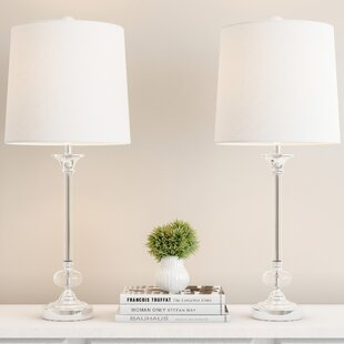 Abrielle Shiny Silver 28 Table Lamp (Set of 2)
