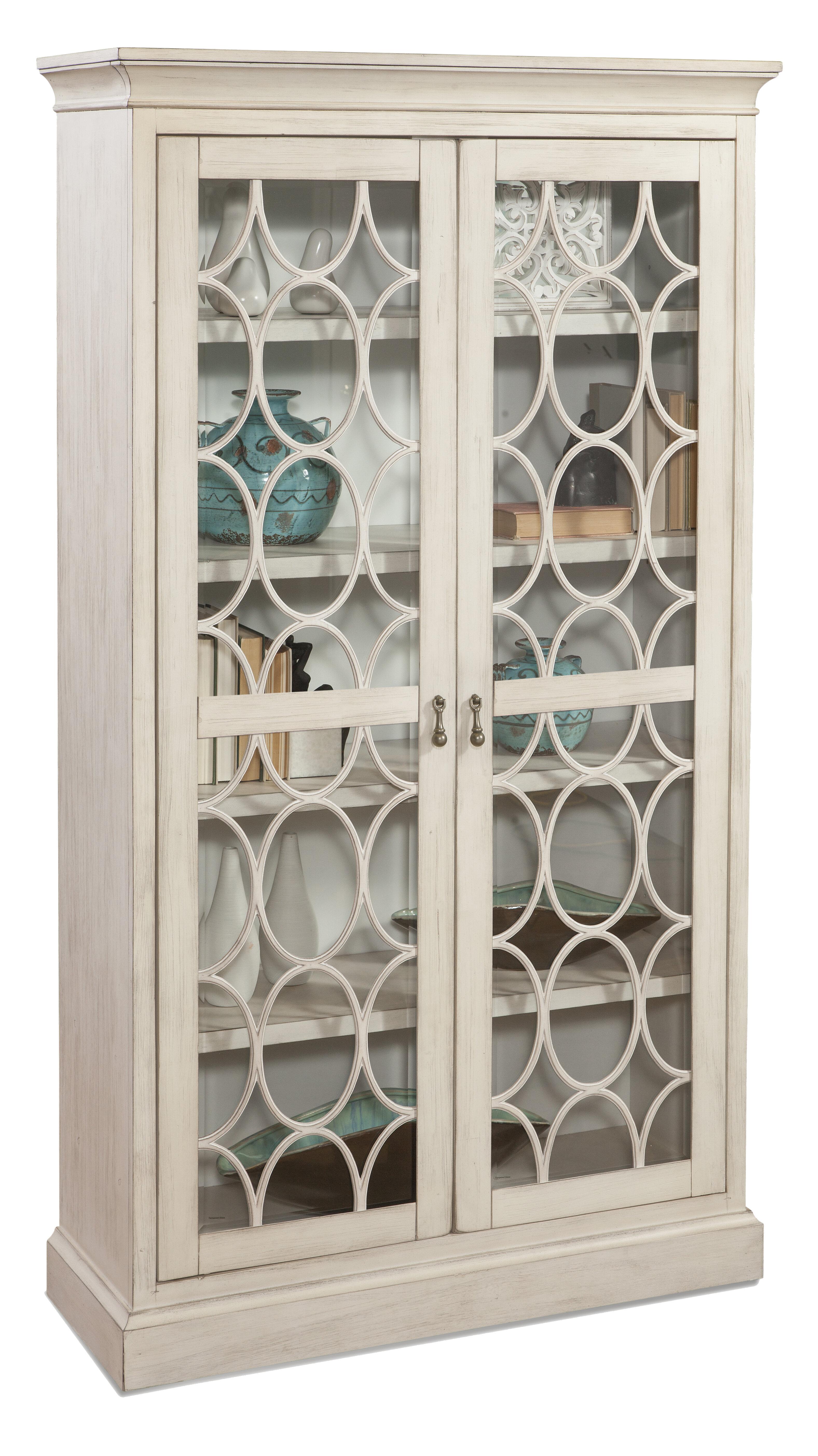 One Allium Way Locke Glass Door Standard Bookcase Wayfair
