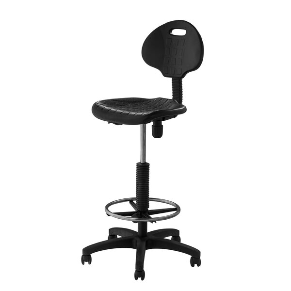 National Public Seating Height Adjustable Self Skin Polyurethane Stool with Backrest u0026 Reviews | Wayfair  sc 1 st  Wayfair & National Public Seating Height Adjustable Self Skin Polyurethane ... islam-shia.org