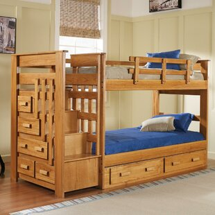 Chelsea Home Twin over Twin Bunk Bed with Storage